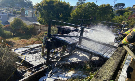 Fire Destroys Deck; House Saved