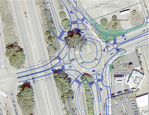 City Seeks Grant for Main/Hwy 41 Roundabout