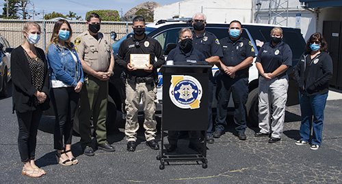 MBPD Officer Gets Footprint Association Award