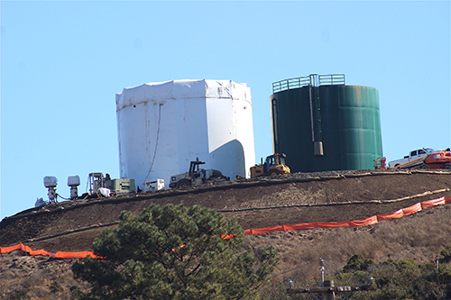 Water Tank Work Progressing