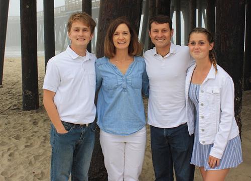 Katie and Bernardo Salcido, with their family