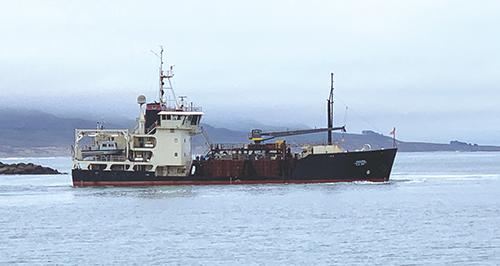 Dredge Ship in Port