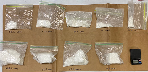 Drug Bust Nets 1-1/2 Pounds of Cocaine