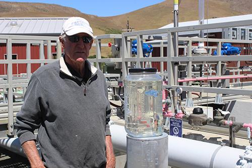 Robert Enns at Cayucos treatment plant