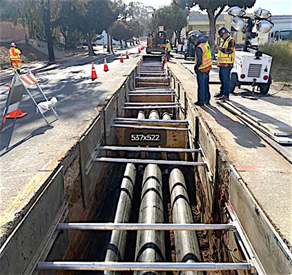 Pipeline Work Progressing
