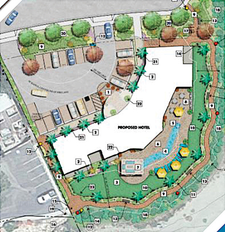 Proposed layout for Cobb motel