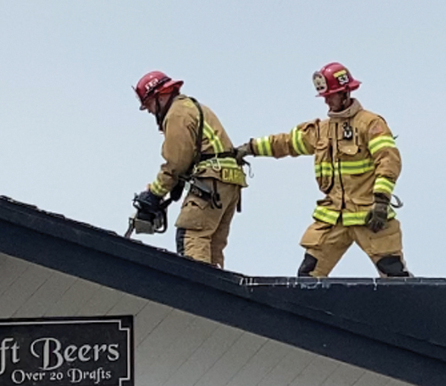 Morro Bay Fire Department at work