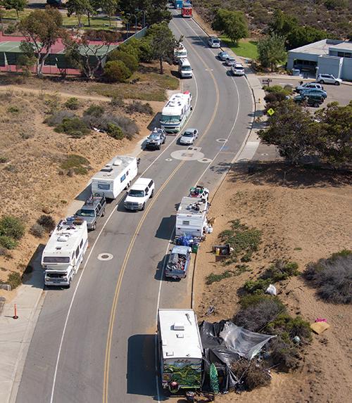 Aerial view of Palisades Avenue, Los Osos