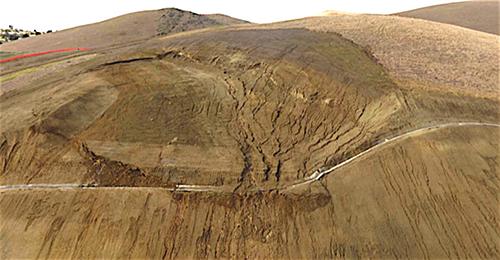 WRF landslide photo